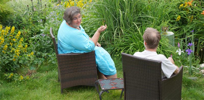 Beratung im Garten